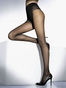 a wolford tummy 20 control top medias negro