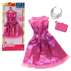 NEW! 2017 BARBIE COMPLETE LOOK FASHION PACK DRESS FOR ALL BODY TYPES CURVY TALL #Mattel