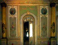 Sakakini Palace in Cairo, Egypt | Built in 1897 | Entrance to the dining room of the palace. The dining area still bears its cupboards and food elevator connecting it with the kitchens.