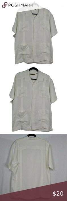 NWT Cubavera Men/'s Big /& Tall Bright White Linen Blend Pants 1X 3X