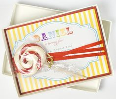 Luxury, Boxed, Circus Birthday Invitation - CIRCUS DAYS LOLLIPOP...ok this is a really cute idea!!!