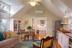 Decorative 600 Sq Ft Apartment in Family Room Traditional design ideas with Decorative area rug bookcase clean family green walls historical kitchenette Pool pool house