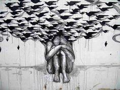 Grafite do artista espanhol Escif.