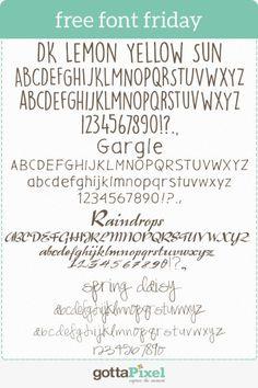 Free Font Friday #91 - Gotta Pixel  ~~ {4 Free fonts w/ links}