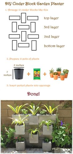 DIY Garden : DIY Cinder Block Garden Planter...started this but haven't finished it yet!