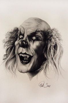 Very Scary Clowns | Evil Clown Drawing by Mario Pichler - Evil Clown Fine Art Prints and ...