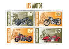 motorcycles on postage stamps