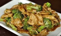 Wok Cooking Stir-fry Chicken with Broccoli Recipe / World of Flavor - The Best Chicken Recipes Chicken Broccoli Stir Fry, Easy Chicken Stir Fry, Fried Broccoli, Broccoli Recipes, Fried Chicken, Healthy Chicken, Broccoli Diet, Asian Broccoli, Recipes