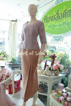 Ready made & made to order handmade dress,Thai silk,Hand crafted and locally made we strive to creative.  Thai silk design fashion. Limited Edition.  Detail  Call :+66 815737558 E-mail:thongchai.phu@gmail.com Line I.D. : thongchai.phu Shop: ห้าง Terminal21Korat ชั้น3 / ร้านดีเทล(สี่แยกร่วมเริงไชย)   #ดีเทล #detail #silk #ผ้าไทย #thaisilk #korat #โคราช #ผ้าไหม #fashionable #dressworld #wedding #designer #eveninggown #thailand #nyfw #thaidesigner #semicouture #dress #chic #beautiful… Silk Design, Model Kebaya, Thai Dress, Hijab Dress, Gowns, Sweaters, Beauty, Dresses, Fashion