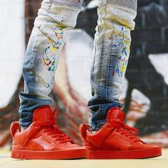 """Kanye West x Louis Vuitton Don """"Triple Red"""" Yeezy By Kanye West, Red Shoes, Nike Air Force, Kicks, Sneakers Nike, Louis Vuitton, Future, How To Wear, Closet"""