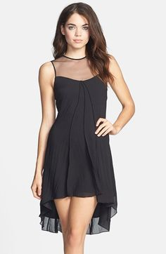 'Jade' Illusion Yoke Chiffon High/Low Dress Now: CHF 93.34 40% OFF