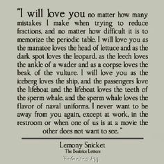 I will love you...