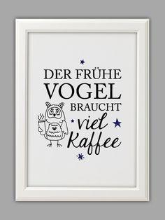 """DER FRÜHE VOGEL"" Kunstdruck"