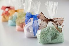 You Pick 2- Bath Salts, Sea Salt Bath Soak, Scented, Cello Gift Bagged- 2 Scents,  8 oz each #etsyshop #bathsalts #seasalt #bathsoak #spa #gift