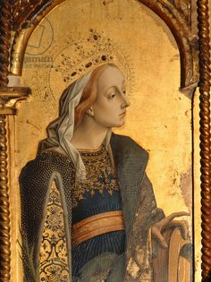 St. Catherine, detail from the Santa Lucia triptych (tempera on panel)  Creator Crivelli, Carlo (c.1430/35-1495)