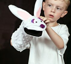 Rabbit Puppet DIY and Pattern - The Sewing Rabbit