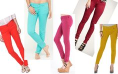 I want a pair of colored pants.....maybe white...
