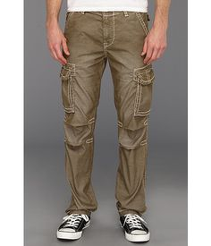 548d4dfa2 True Religion Anthony Big T Corduroy Cargo Pant in Old Sage Old Sage - 6pm.