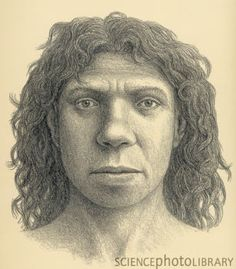 A woman Heidelbergensis person