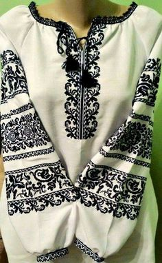 Фб Polish Embroidery, Folk Embroidery, Cross Stitch Embroidery, Embroidery Designs, Folk Fashion, 80s Fashion, Korean Fashion, Fashion Dresses, Womens Fashion