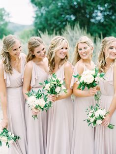 light pink feminine bridesmaid style   Photography: The Grovers