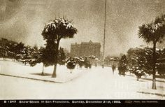Snow-storm In San Francisco Sunday December 31 1882 I. W. Taber by California Views Mr Pat Hathaway Archives