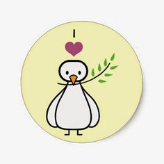 Customisable peace dove cartoon gifts - t-shirts, posters, mugs, accessories and more from Zazzle. Choose your favourite peace dove cartoon gift from thousands of available products. Peace Bird, Peace Dove, Peace And Love, My Love, Dove Bird, Worlds Of Fun, Stickers, Cartoon, Fictional Characters