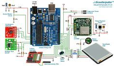 """""""Scooterputer"""" - The ultimate Arduino-based moped computer Arduino Projects, Electronics Projects, Diy Projects, Embedded Linux, Real Time Clock, Arduino Board, Complex Systems, Project List, Gadgets And Gizmos"""