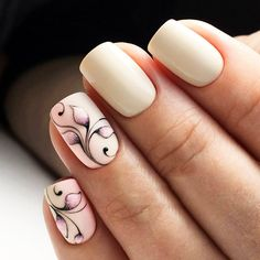 Opting for bright colours or intricate nail art isn't a must anymore. This year, nude nail designs are becoming a trend. Here are some nude nail designs. Nude Nails, White Nails, Acrylic Nails, Spring Nail Art, Spring Nails, French Pedicure, Accent Nails, Flower Nails, Creative Nails