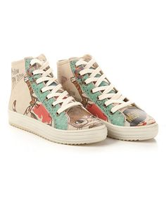 Another great find on #zulily! Mint & Brown Smart Cat Hi-Top Sneaker #zulilyfinds