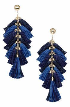 Main Image - Ettika Multi Tassel Statement Earrings