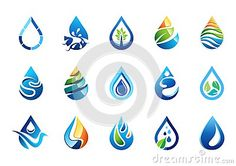 Water drops logo, set of collection water drops logos symbol icon, nature drops elements vector design. http://www.dreamstime.com/stock-photography-image58211588#res7049373