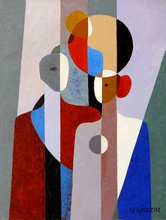 Vasiliy Myazin, The Family II Cubism Art, Composition Art, Abstract Geometric Art, Art Drawings Sketches, Indian Art, Abstract Expressionism, Watercolor Art, Modern Art, Pop Art