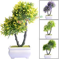 2 in1 Artificial Boxwood Balls Bonsai with pot Ivy Topiary Plants Happiness Tree