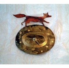 Fox Metal Clock