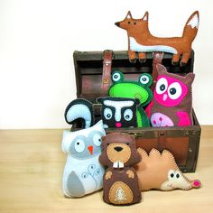 Hey, I found this really awesome Etsy listing at http://www.etsy.com/listing/69080553/50-off-7-woodland-forest-softie-sewing