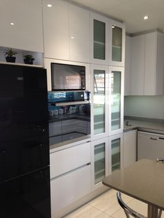 Kitchen Cabinets, Kitchen Appliances, Built In Furniture, Wall Oven, Kitchens, Bedrooms, Vanity, Bathroom, Building