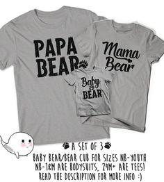 Papa & Baby Bear Shirt Set. Papa Bear and Baby Bear Shirts. Fathers Day Gift. Daddy Daughter shirts. Family Shirts Q3fGeJrS