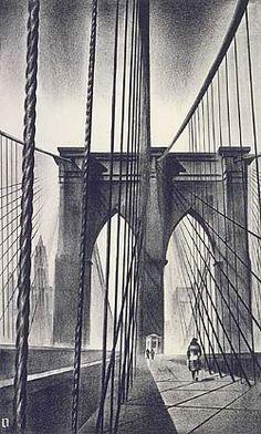 Louis Lozowick, Brooklyn Bridge (1930)  Smithsonian American Art Museum