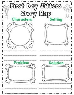 FREEBIE!! This First Day Jitters activity is included in my First ...