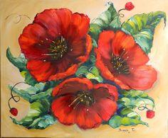 91 x 76 cm Oil on canvas done by Brunhilde du Toit