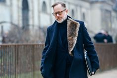 Bruce Pask - The men's fashion director at Bergdorf Goodman and costume designer for the Academy Awards, Pask is a riddle wrapped in a mystery inside a well-groomed beard. Why so? Pask is a diverse dresser, whose daily looks are impossible to call. He wears it (all) well.