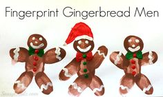 DIY Fingerprint Gingerbread Man Craft For Kids