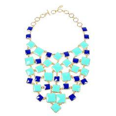 Amrita Singh Color Block Bib Necklace ($250) ❤ liked on Polyvore featuring jewelry, necklaces, accessories, collane, colares, bib necklace, toggle necklace, two tone necklace, amrita singh necklace and amrita singh jewelry