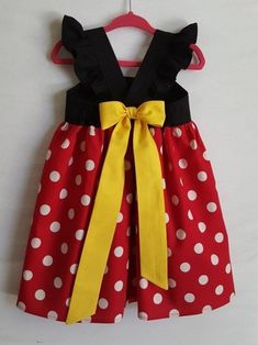 14c3d2a3e Minnie Mouse Dress, Minnie Dress, Disney Dress, Baby Girls Dress, Little Girls  Dress, Minnie Mouse Party Dress, Disneyland, Disney World