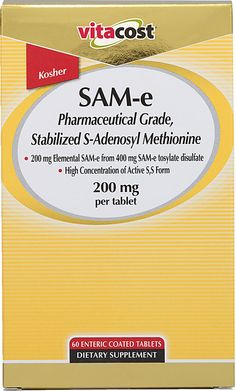 Vitacost SAM-e  Excellent price for a great product. I will Set & Save this when I can.
