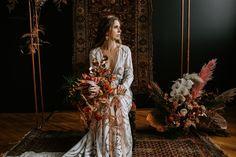 Gallery - A Terracotta and Copper Bohemian Wedding Inspiration Wedding Rustic, Autumn Wedding, Beige Lace Dresses, Black Tulips, Bohemian Wedding Inspiration, Bridal Boutique, Hair Designs, Terracotta, Earthy