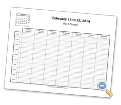Weekly Hourly Planner Printables Planner