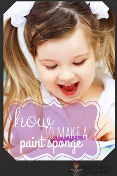 Kid's paint can be messy. Stop looking for a paint pallet and pop the lid and start painting! How to make a paint will save you time, money, and hassle. http://multitaskingmaven.com/how-to-make-paint-sponge/ 