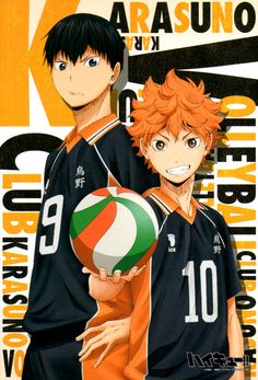 Tags: Official Art, Haikyuu!!, Hinata Shouyou, Kageyama Tobio